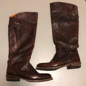 🍀 FRYE Dorado Lug Leather Riding Boots